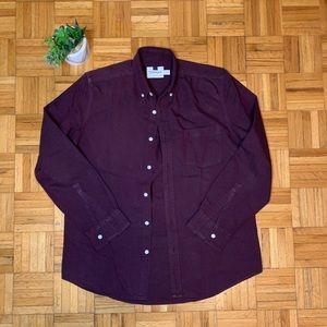 TOPMAN Dark Purple Casual Button Down Mens Shirt